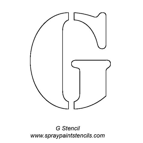 printable alphabet stencils  cut