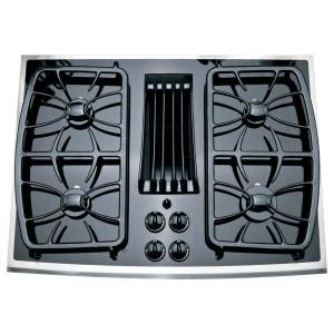 ge gas cooktop grates ge profile 30 inch gas downdraft cooktop
