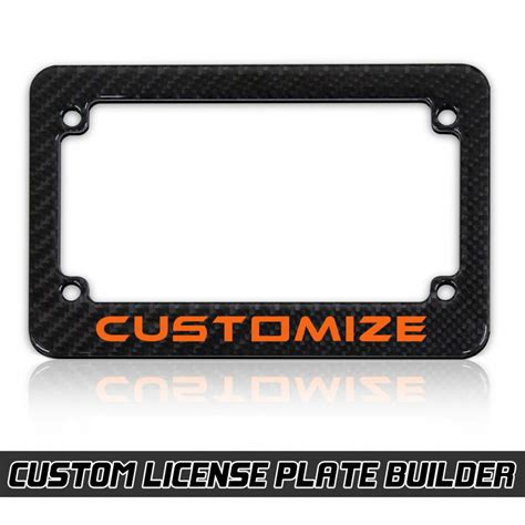 designer license plates personalized motorcycle license plate frame designer with