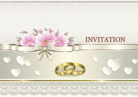 luxury wedding invitation card  golod ring vector