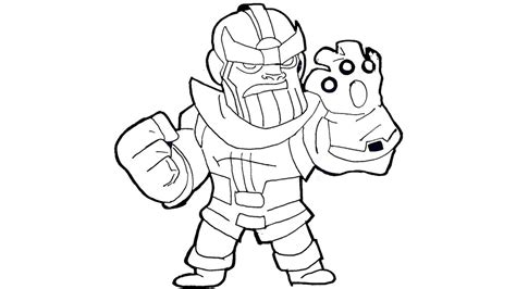 chibi thanos coloring page free printable coloring pages