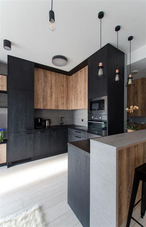 juoda_virtuve_moderni | Urban kitchen, Kitchen flooring ...