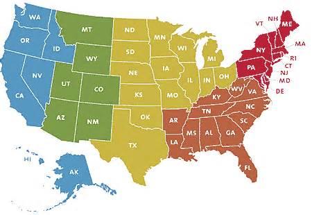 Printable US Maps United States Region