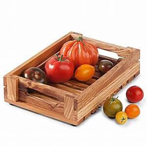 Obst Und Gemüsekorb : obst gem sekorb sicheres serviertablett aus olivenholz hagen grote shop ~ Markanthonyermac.com Haus und Dekorationen