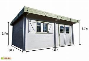 Bac Acier Isolé Prix : abri de jardin bois 42 mm toit plat bac acier 476x533cm ~ Dailycaller-alerts.com Idées de Décoration