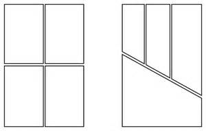 Blank Comic Book Page Layout
