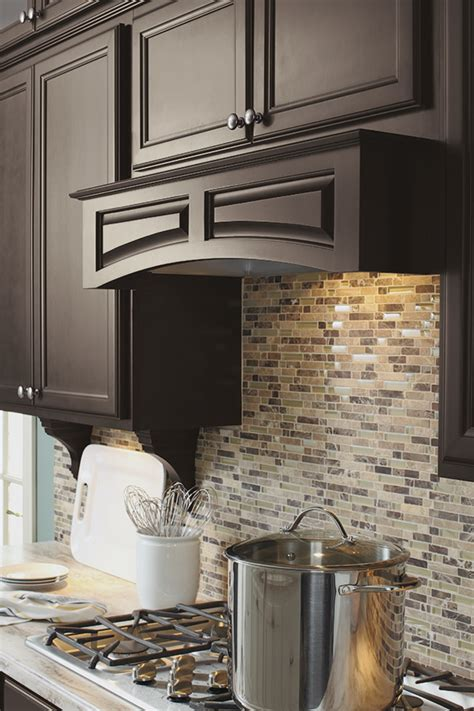 arched wood hood canopy diamond cabinetry