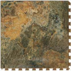 shop perfection floor tile 20 1 2 in w x 20 1 2 in l imperial gold slate garage flooring tile at