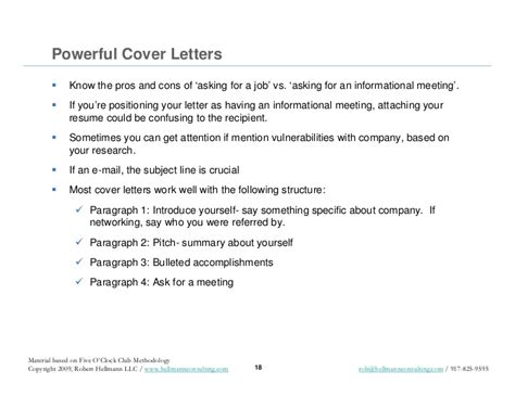 job search promotional materials resume cover letters  pit