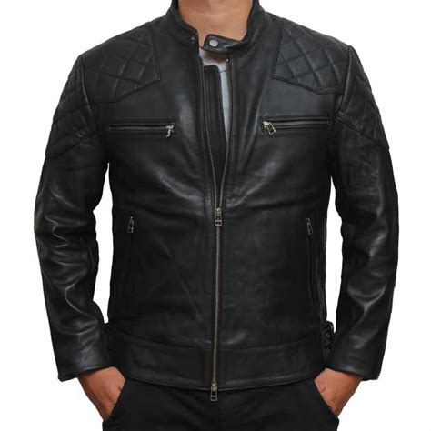 zip up biker jacket david beckham leather jacket lambskin leather jacket mens