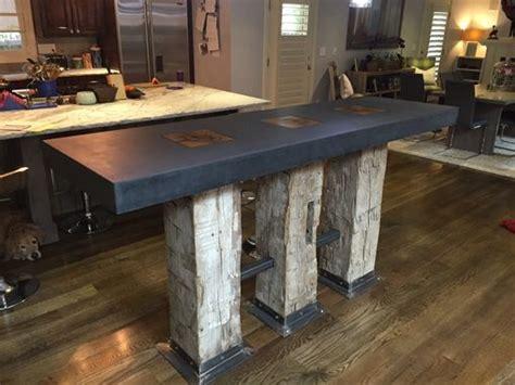 hand  modern kitchen island concrete  denver  metz