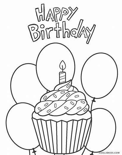 Coloring Birthday Happy Pages Adults Printable