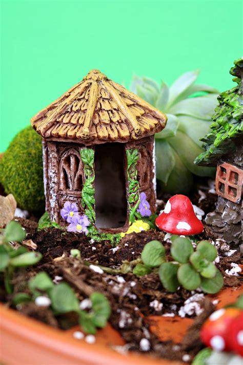 minute dollar store fairy garden pedestal mad  crafts