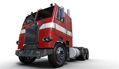 freightliner fl cab  engine truck maje
