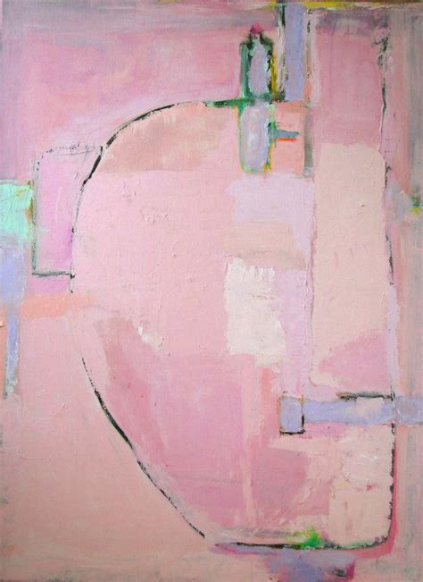 Pink Abstract Acrylic Painting