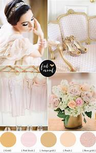 Rose Gold ,Blush and Gold Colour Palette,