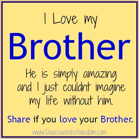 Quotes About Loving Your Brother Gorgeous Love My Brother Quotes Comments  Funny Love Quotes And Sayings My