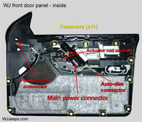 2001 Jeep Grand Door Wiring Harnes by Jeep Grand Wj Door Panel Removal