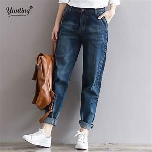 2017 Boyfriend Jeans Harem Pants Women Trousers Casual ...