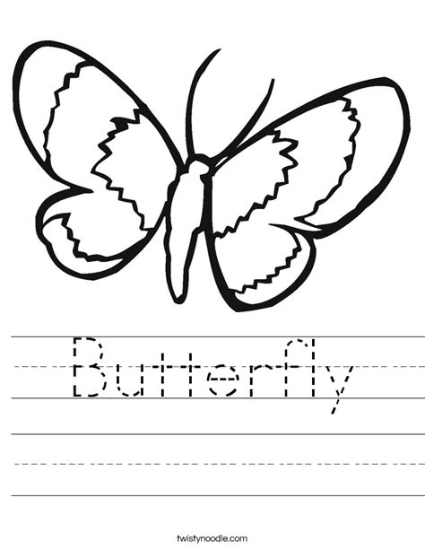 butterfly worksheet twisty noodle