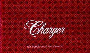 1975 Dodge Charger Owners Manual User Guide Reference