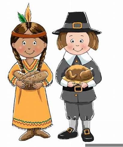 Pilgrim Pilgrims Indians Indian Thanksgiving Clipart Drawing