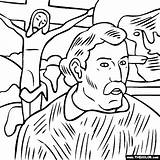 Gauguin Coloring Paul Self Portrait Paintings Famous Thecolor Painting Colouring αποθηκεύτηκε από Maestramarta sketch template