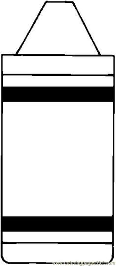 Crayon Template Color Crayon Template Printable Day