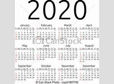 EPS Vektor von 2020, kalender, vektor, sonntag Simple