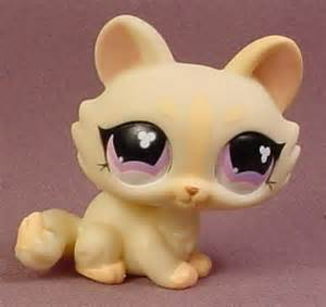 lps yellow cat littlest pet shop 848 light yellow kitty cat kitten with