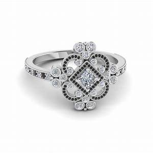 princess cut edwardian vintage look halo engagement ring With vintage halo wedding rings