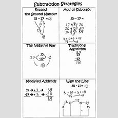 25+ Best Ideas About Subtraction Strategies On Pinterest  Math Strategies Posters, Subtraction