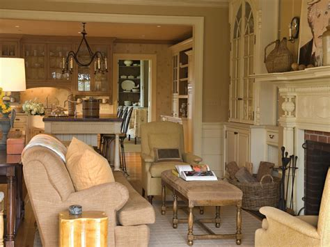 Traditional Neutral Living Room With Fireplace A