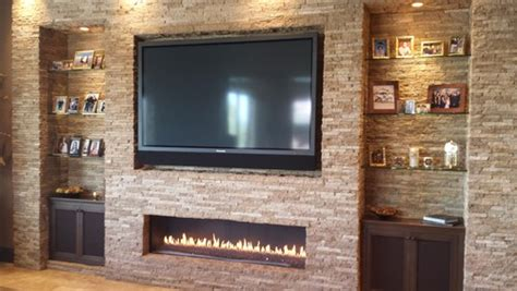 family room fireplaces how high should your tv be boffo