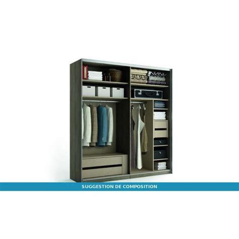 bureau ordinateur blanc laqué armoire coulissante solano bois portes laquées achat