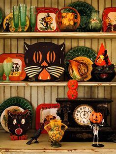 ideas  vintage halloween decorations