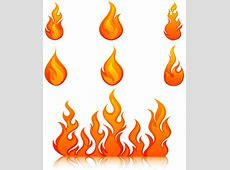 Elements of vivid flame vector icon Free vector in