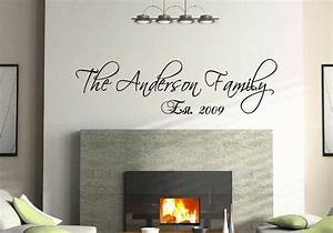 36quot personalized custom family name wall decal vinyl With personalized vinyl lettering