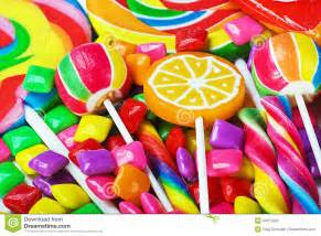 all baby shower multicolored lollipops candy and chewing gum stock photo