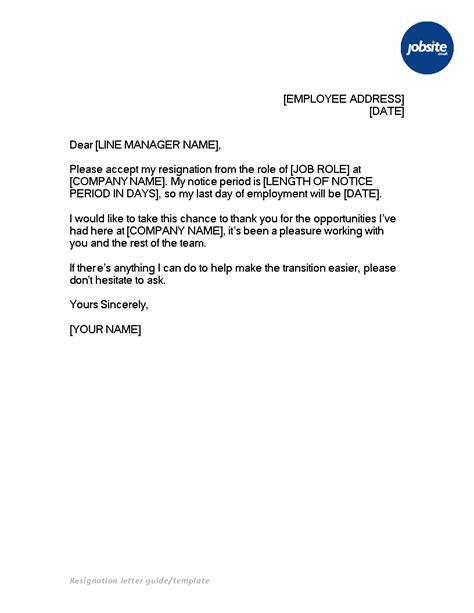 Letter Of Resignation Microsoft Word - Sample Resignation Letter