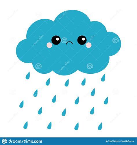 Nuvem Escura Do Kawaii Bonito Dos Desenhos Animados Com