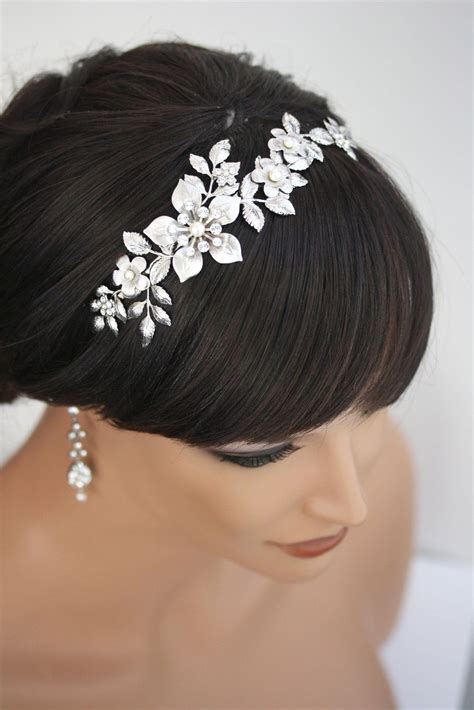 bridal headband wedding hair accessories flower headband