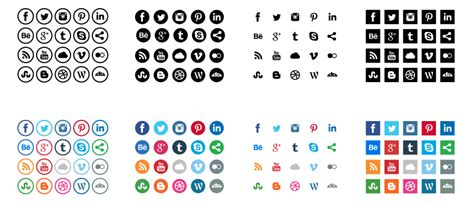 Free Social Media Icons 54 Beautiful Free Social Media Icon Sets For Your Website