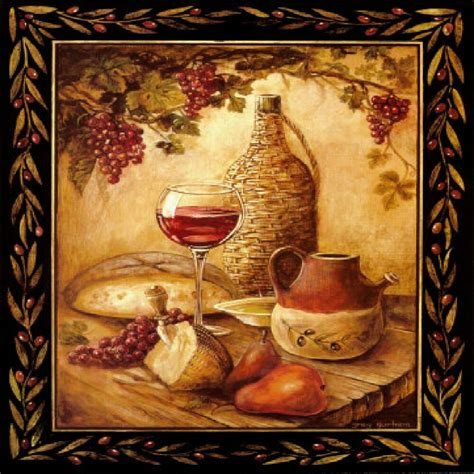 Italian Wall Decor For Kitchens - tuscan wine grapes i italian kitchen theme decor square