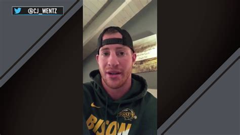 carson wentz posts video  suffering  torn acl