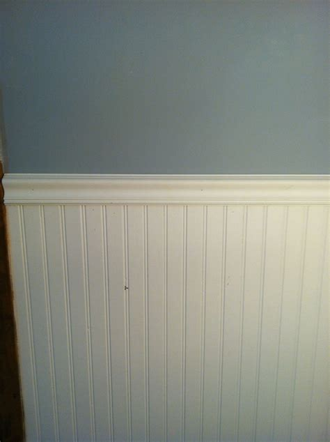 Chair Rail Wainscoting by White Beadboard With Chair Rail Crown Molding Chair