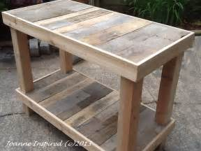 wooden kitchen island table pallet project kitchen island work table joanne inspired