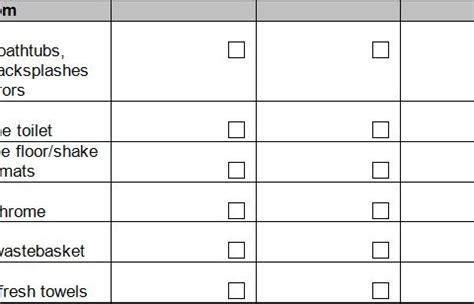bathroom cleaning schedule restaurant task list