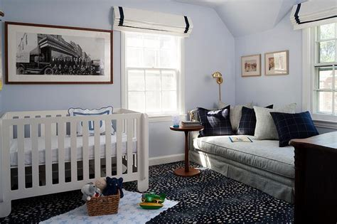 Nursery With Gray Daybed  Contemporary Nursery