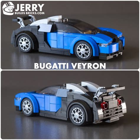 Speed build and building instructions for custom lego bugatti chiron speed champions set 75878 alternative moc model. LEGO MOC-14381 Bugatti Veyron (Speed Champions 2018) | Rebrickable - Build with LEGO
